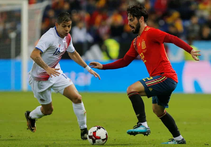 Isco, here in action against Costa Rica's Cristian Gamboa, has made tremendous progress for Spain and Real Madrid.