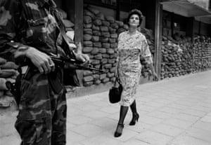 Down Sniper's Alley … Tom Stoddart's Woman of Sarajevo.