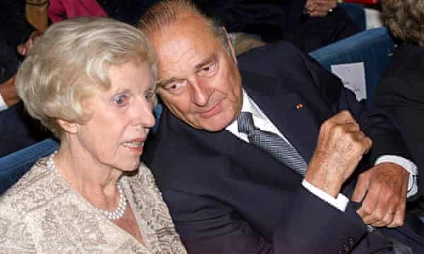 Chirac with Claude Pompidou, widow of Georges Pompidou, in September 1999.