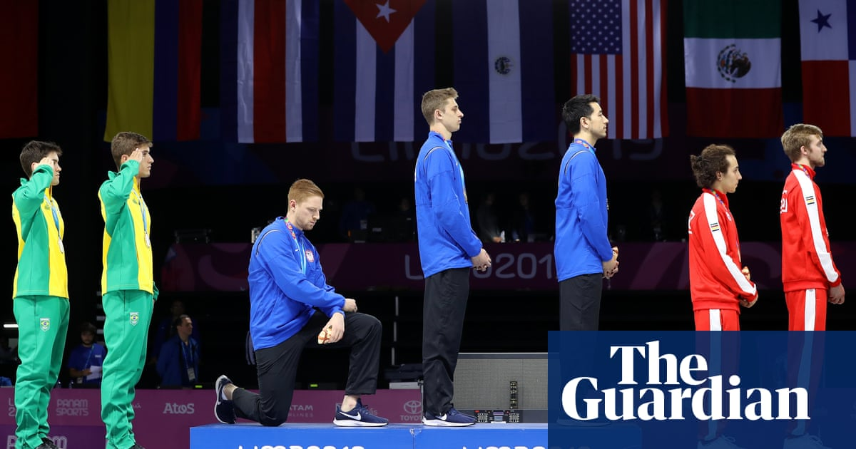 US Olympic medalist faces discipline for taking knee after winning Pan