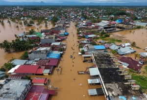 Bengkulu, IndonesiaAn aerial picture shows the extent of flooding around Bangkulu, Sumatra after torrential rains triggered floods and landslides that have killed at least 17 people and displaced thousands