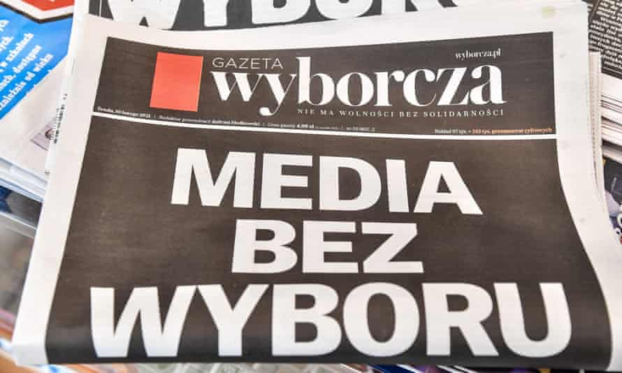 Wednesday's cover of the Gazeta Wyborcza