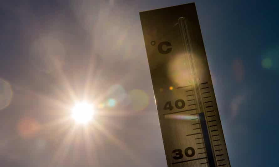 A picture taken on 1 July 2015 shows a thermometer in Lille as a major heatwave spread through Europe, with temperatures hitting nearly 40C.