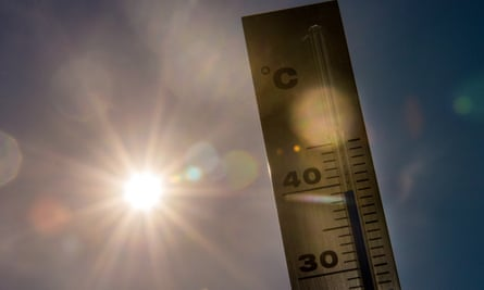 A picture taken on July 1, 2015 shows a thermometer in Lille as a major heatwave spreads up through Europe, with temperatures hitting nearly 40 degrees.