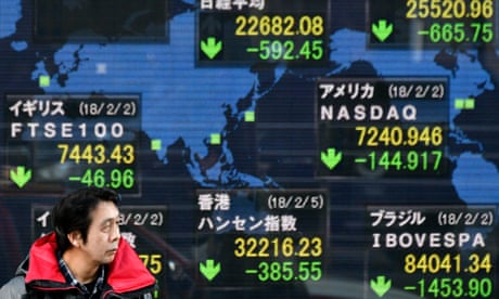 Dow Jones suffers worst day in over six years as global stock markets plunge  3402