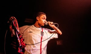 Loyle Carner on stage at the Garage, London, 2016.