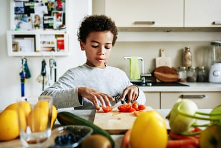 On chopping duty: Darina Allen says kids should be taught early how to use a knife safely.