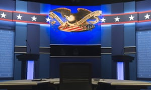 The stage is set for the third and final presidential debate .