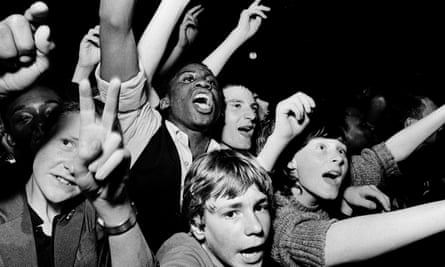 The RAR organiser Syd Sheldon's photograph of two-tone fans in the late 1970s. Punk and its successors helped to break down racial divisions, says Mykaell Riley of the era's reggae band Steel Pulse.