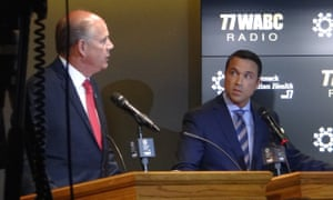 Michael Grimm and Dan Donovan at an election debate.