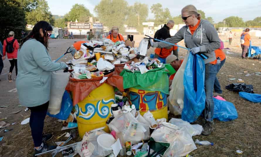 The big Glastonbury clean-up, 2017.