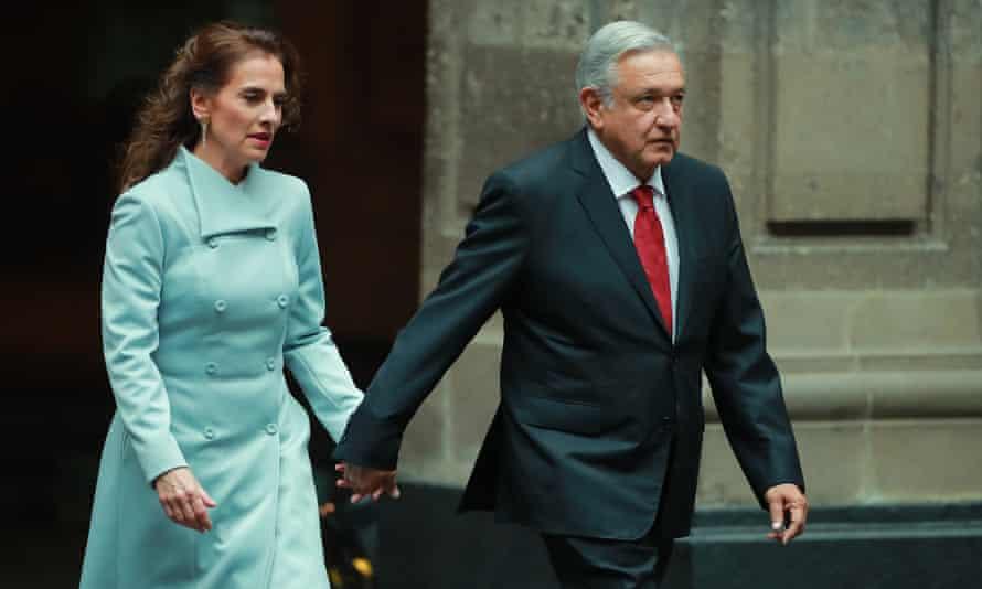 Andrés Manuel López Obrador and his wife, Beatriz Gutiérrez Müller.