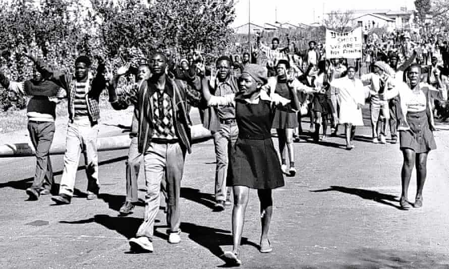 The Soweto uprising in 1976.