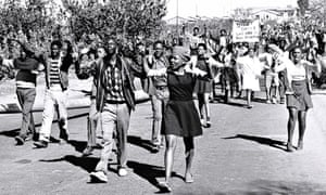 High school students in Soweto on the 16 June, 1976.