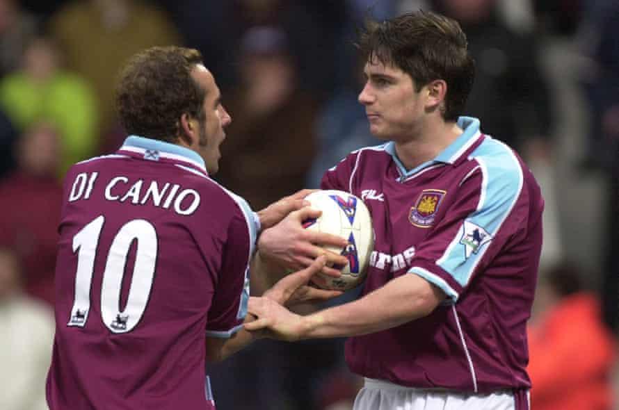 Paulo Di Canio and Frank Lampard