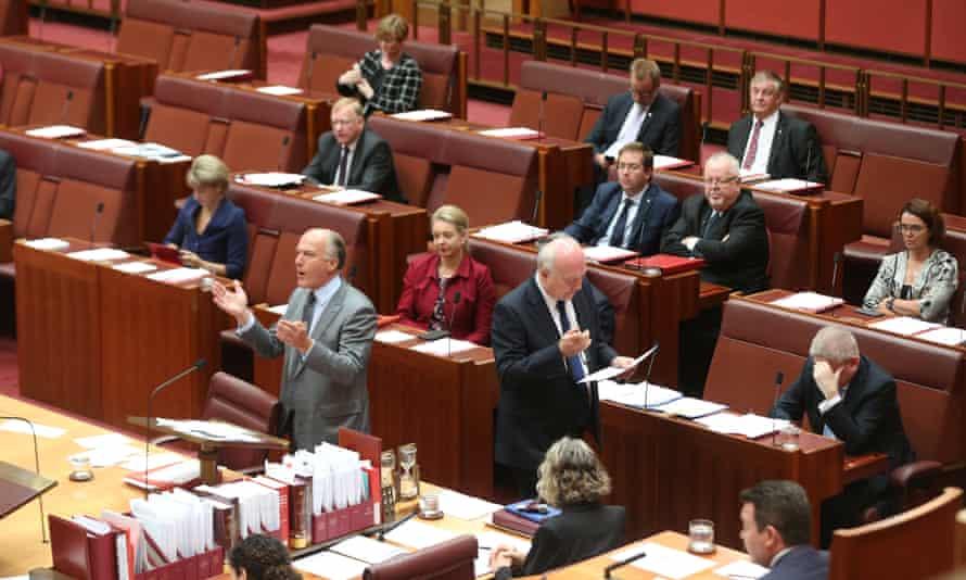 Eric Abetz talks in the Australian Senate