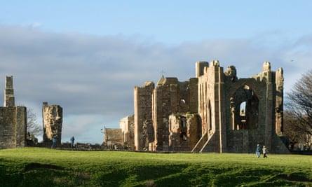 Lindisfarne Priory on Holy Island, Northumberland