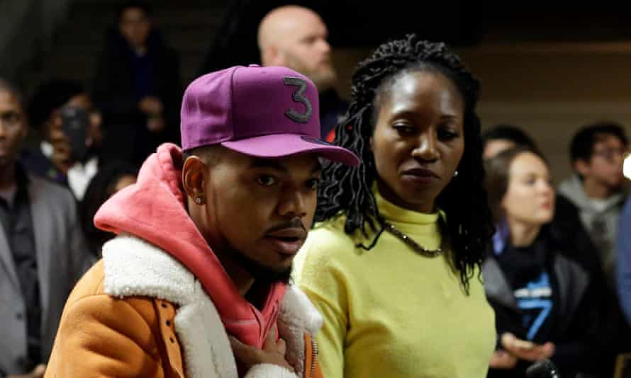 Chance the Rapper and Amara Enyia.