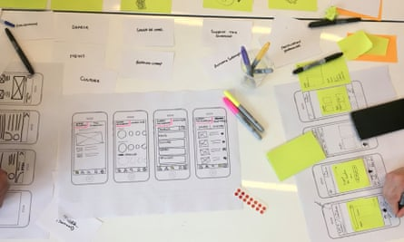 Sketches made during a design sprint
