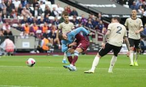 Andriy Yarmolenko scores his side's first goal.