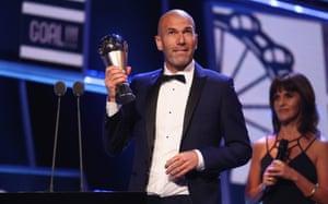 Zinedine Zidane wins coach of the year.