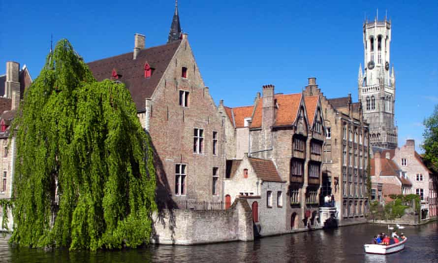 The Saint Niklaas B&B, by the river, in Bruges, Belgium.