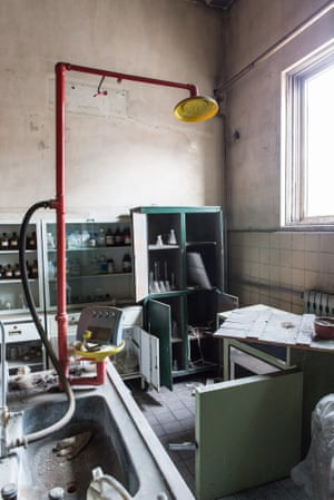 A room in the Shougang Steel Plant outside Beijjing.