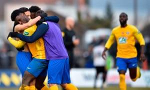 SAS Epinal, who play in the fourth tier in France, have reached the last-16 of the Coupe de France.