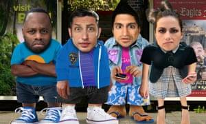 Javone Prince, Tom Hardy, Kayvan Novak and Charlotte Riley in Sticky