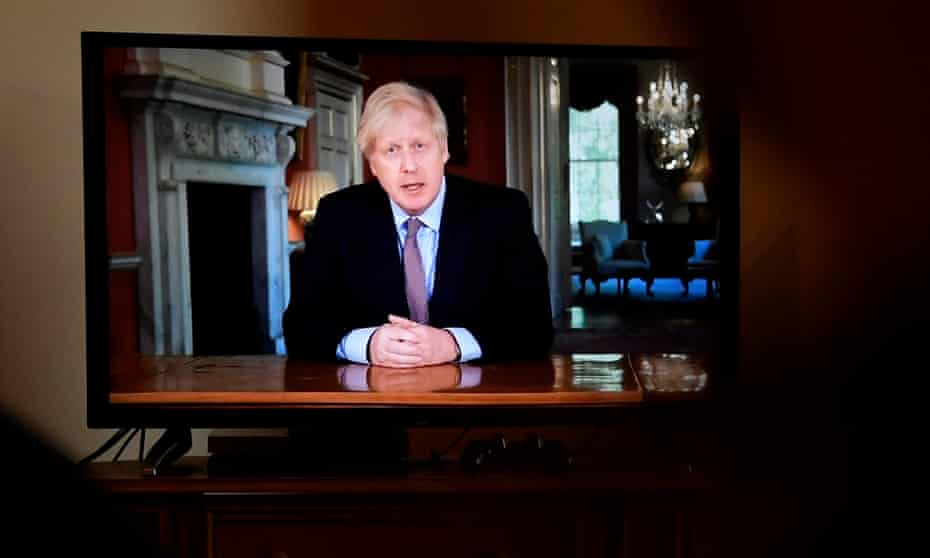 Boris Johnson's televised message was watched with alarm in some parts of the UK.