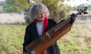 Steven Isserlis with the trench cello.