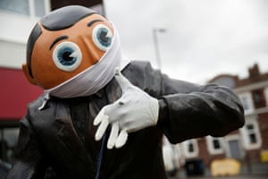 Timperley, England. A statue of Frank Sidebottom