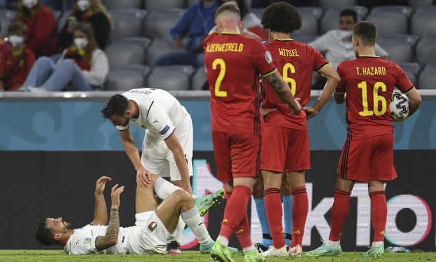 Leonardo Spinazzola ruptured an achilles tendon in the quarter-final against Belgium