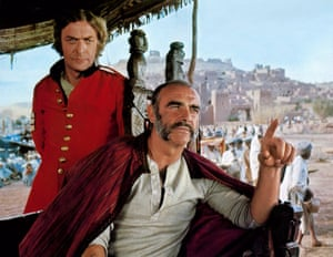 In John Huston's 1975 film The Man Who Would Be King, adapted from a Rudyard Kipling novella, with Michael Caine
