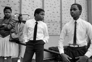 DaFour Teenagers After Church Service, Syracuse, NY, 1985