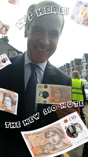 Bank of England's snapchat feature