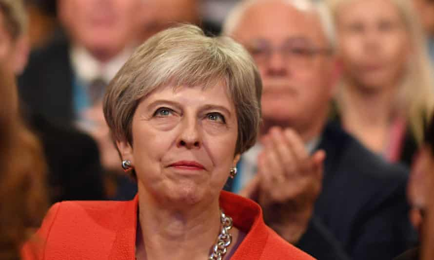 Theresa May at the Conservative conference