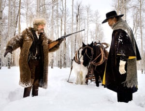 Kurt Russell and Samuel L Jackson as John Ruth and Major Marquis Warren, in Quentin Tarantino's latest film The Hateful Eight