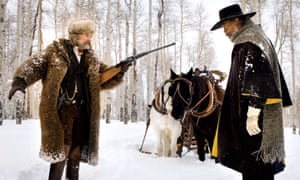 Kurt Russell and Samuel L Jackson in The Hateful Eight (2015), which marked Morricone's return to the western genre.