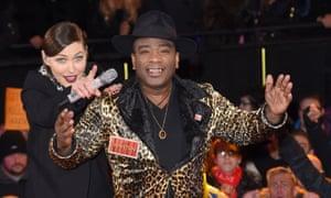 Winston McKenzie on Channel 5's Celebrity Big Brother, with host Emma Willis