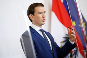 Austrian chancellor Sebastian Kurz speaks at a press conference in Vienna, on 31 October.