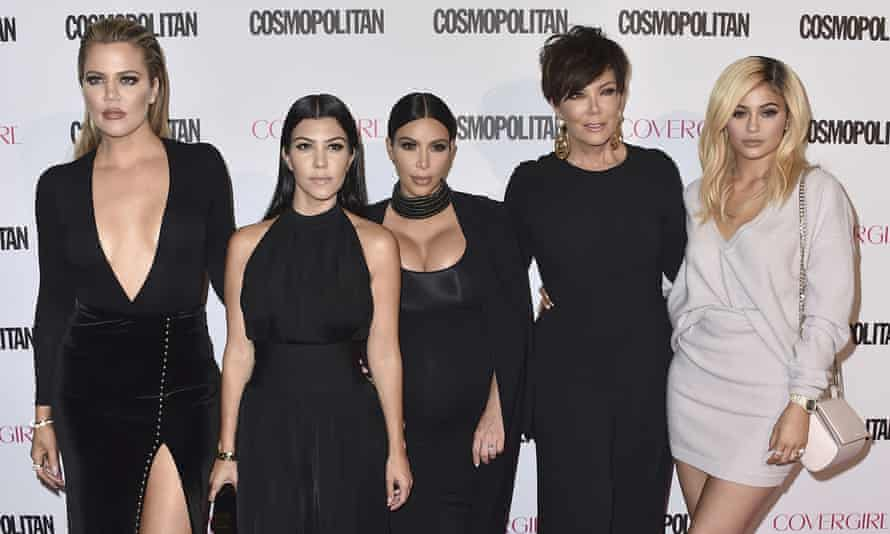 Lost influence … Khloé Kardashian, Kourtney Kardashian, Kim Kardashian, Kris Jenner and Kylie Jenner, 2015.