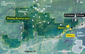 Mayan villages in the Fenix mine licence area