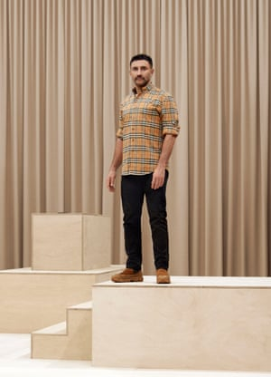 Designer Riccardo Tisci is seen during the Burberry Autumn/Winter 2021 Menswear Presentation during London Fashion week in February 2021 at the Burberry flagship Regent Street store.