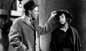 Leslie Howard as Henry Higgins and Wendy Hiller as Eliza Doolittle in Pygmalion (1938)