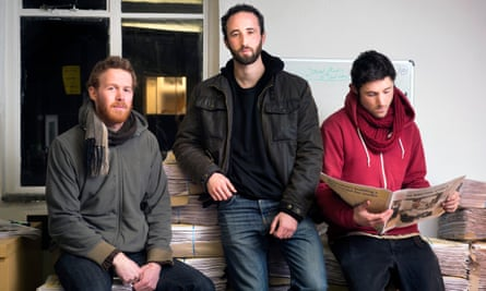 Bristol Cable crusaders, from left: Alec Saelens, Alon Aviram and Adam Cantwell.