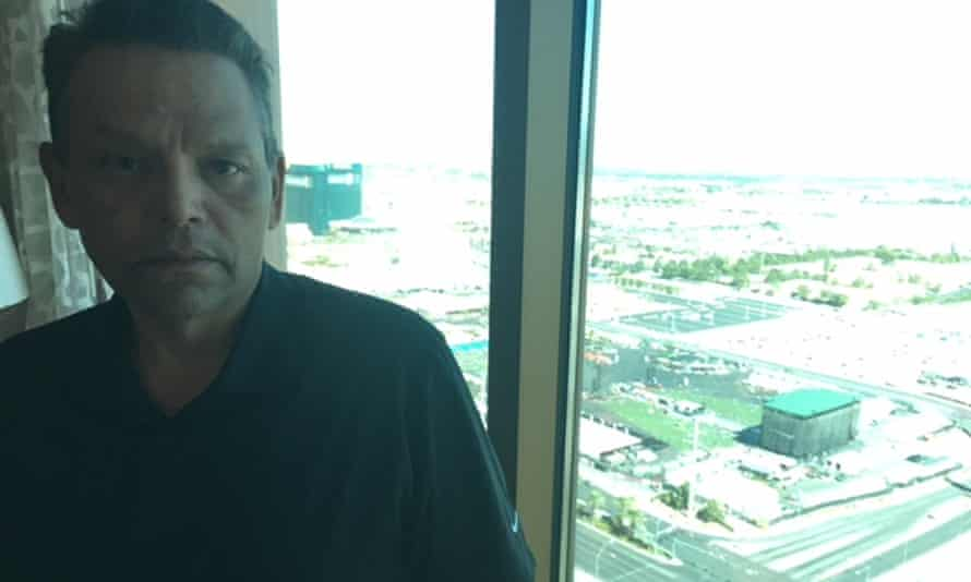 Ralph Rodriguez, a concert-goer, in his Mandalay Bay room overlooking the massacre site.