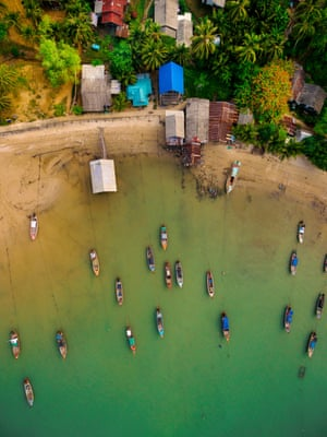 By Sam Germaine-Scrivens, winner. On Koh Muk, southern Thailand, I saw the boats swaying in the breeze and thought it would look great from a different perspective so I sent my drone to hover above the water. It was late afternoon so the lighting on the cove and town was just right. PAUL GOLDSTEIN, JUDGE: Unfortunately, people have used drones injudiciously for many years now and the results are frequently uninspiring and lazy. Not this. This works on a dozen levels: the colour gradient, the composition and the symmetry most of all. To have taken this landscape format would have been a crime.