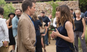 Exposed … Kevin Bacon as Dick and Kathryn Hahn as Chris in the TV adaptation of I Love Dick.