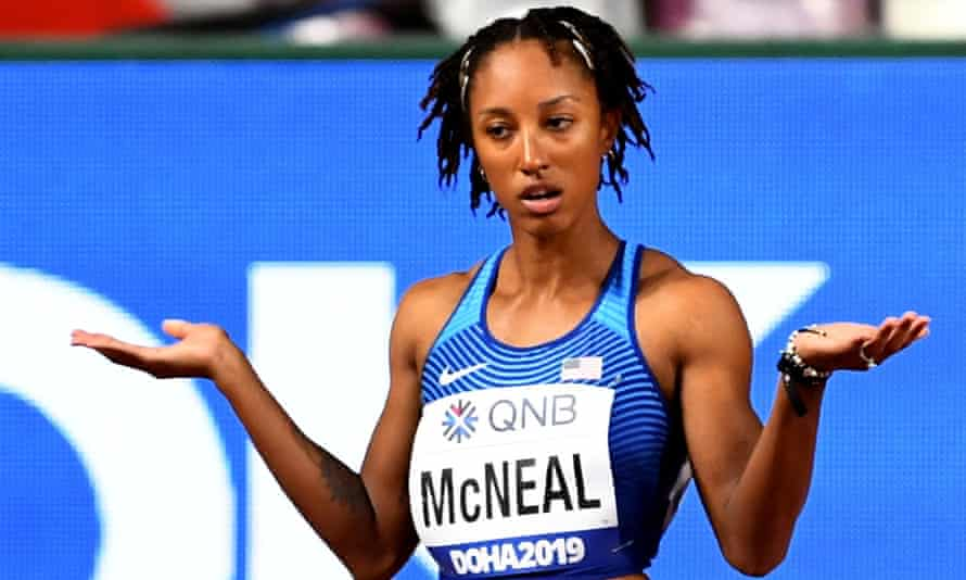 Brianna McNeal at the 2019 world championships in Doha